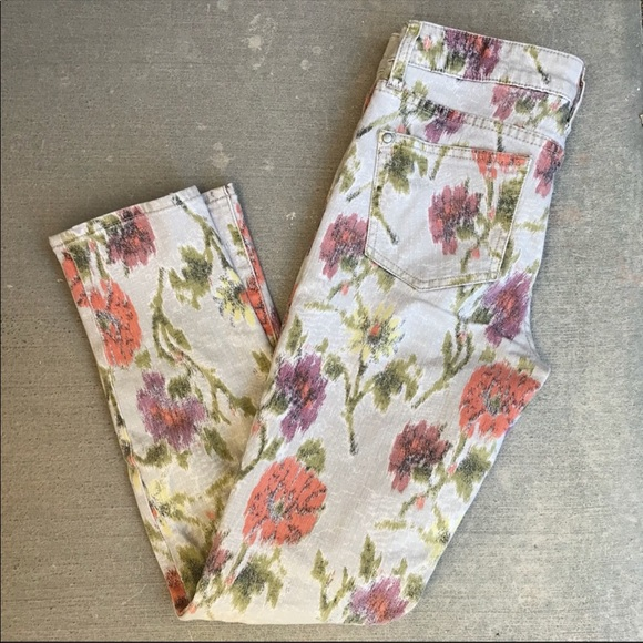 Pilcro and the Letterpress Denim - Pilcro and the letterpress floral skinny jeans.
